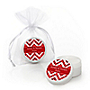 Chevron Red - Personalized Everyday Party Lip Balm Favors