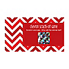 Chevron Red - Personalized Everyday Party Game Scratch Off Cards - 22 ct