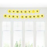Chevron Yellow - Personalized Baby Shower Garland Letter Banners