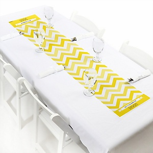 Chevron Yellow - Personalized Party Petite Table Runner