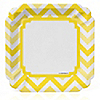Chevron Yellow - Everyday Party Dinner Plates - 8 ct