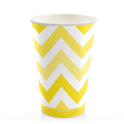 chevron yellow bridal shower hotcold cups 8 ct bigdotofhappinesscom