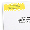 Chevron Yellow - Personalized Everyday Party Return Address Labels - 30 ct