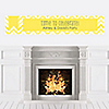 Chevron Yellow - Personalized Everyday Party Banners