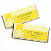 Chevron Yellow - Personalized Everyday Party Candy Bar Wrapper Favors