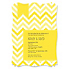 Chevron Yellow - Personalized Everyday Party Invitations