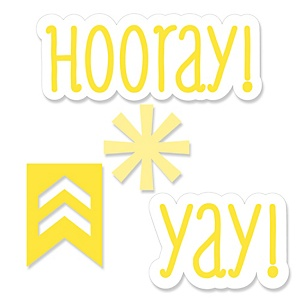Chevron Yellow - Shaped Party Paper Cut-Outs - 24 ct
