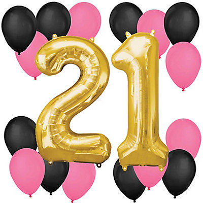 Finally 21 girl 21st birthday balloon kit for 21st birthday decoration packages