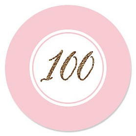 Chic 100th Birthday - Pink, Black and Gold - Birthday Party Theme