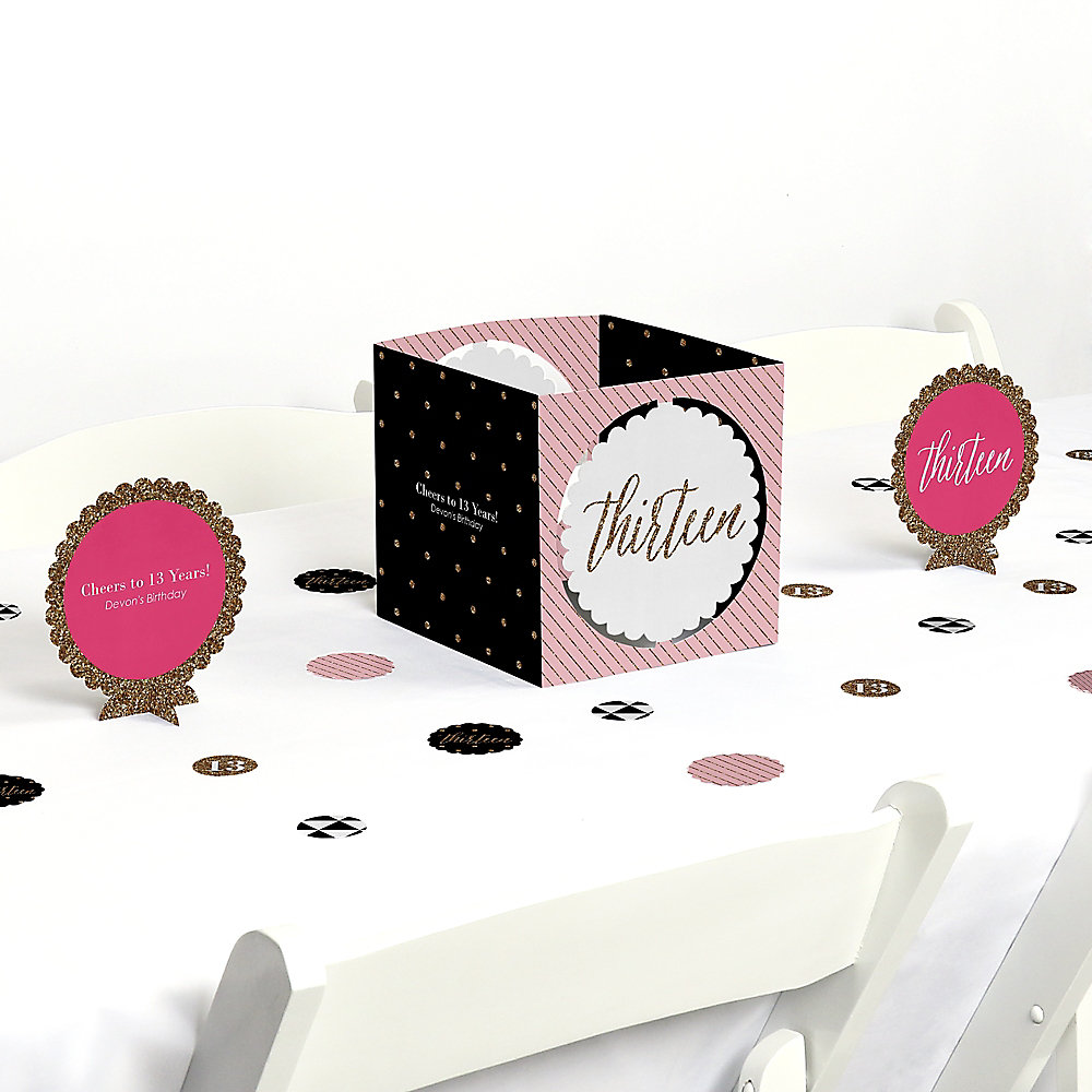 Chic Pink, Black and Gold - 13th Birthday - Birthday Party Theme ...