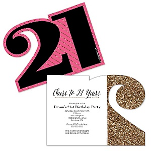 Finally 21 Girl - 21st Birthday - Shaped Birthday Party Invitations