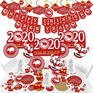 Chinese New Year - 2020 Year of the Rat Party Supplies - Banner Decoration Kit - Fundle Bundle