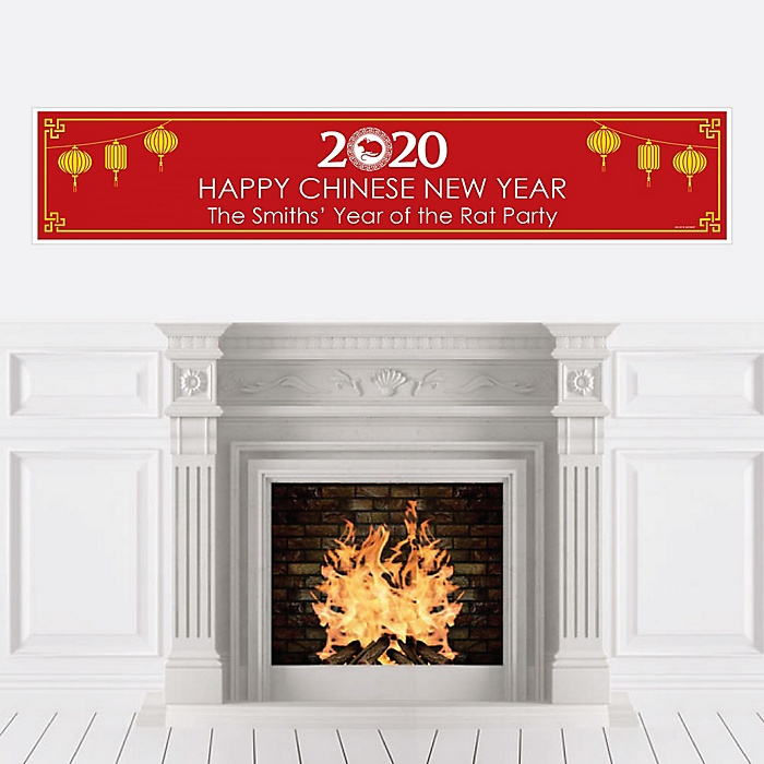 Chinese New Year - Personalized 2020 Year of the Rat Party Banner