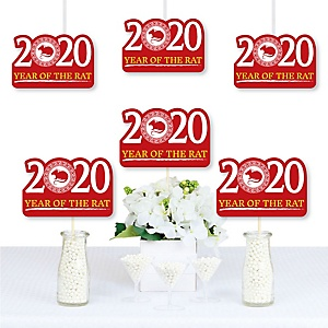 Chinese New Year - 2020 Decorations DIY Year of the Rat Party Essentials - Set of 20