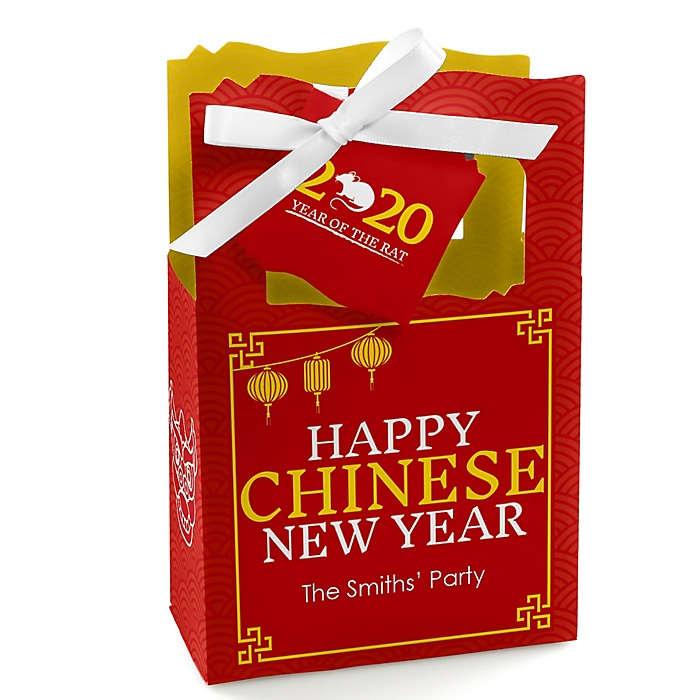 Chinese New Year - 2020 Year of the Rat Party Gift Boxes - Set of 12