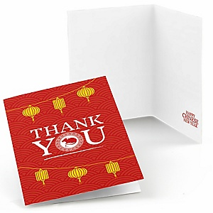 Chinese New Year - 2020 Year of the Rat Party Thank You Cards - 8 Count