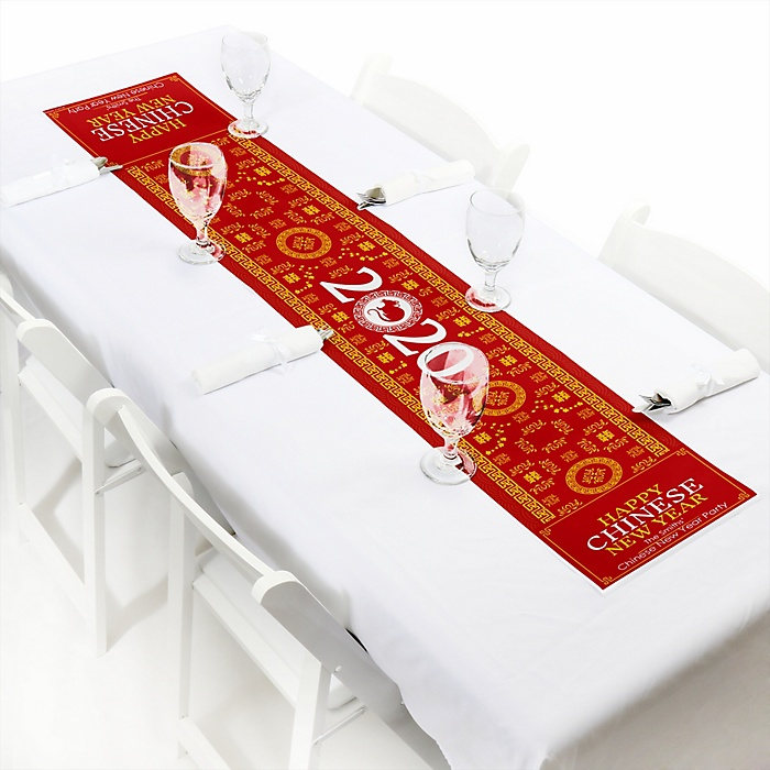 """Chinese New Year - Personalized Petite 2020 Year of the Rat Party Table Runner - 12"""" x 60"""""""