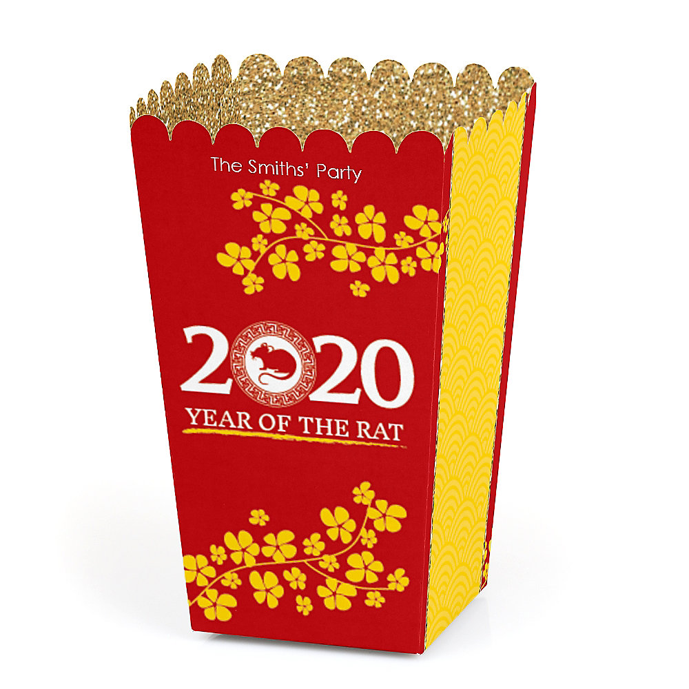 When Is Chinese New Year 2020.Chinese New Year Personalized 2020 Year Of The Rat Party Favor Popcorn Treat Boxes Set Of 12