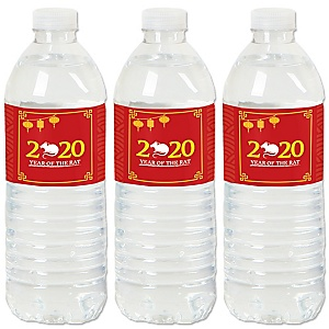 Chinese New Year - 2020 Year of the Rat Party Water Bottle Sticker Labels - Set of 20
