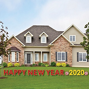 Chinese New Year - Yard Sign Outdoor Lawn Decorations - 2020 Year of the Rat Party Yard Signs - Happy New Year
