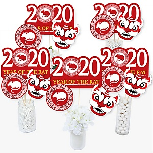 Chinese New Year - 2020 Year of the Rat Party Centerpiece Sticks - Table Toppers - Set of 15