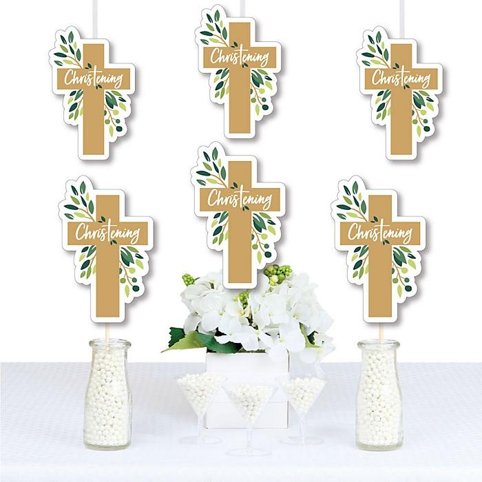 Christening Elegant Cross - Decorations DIY Religious Party Essentials - Set of 20
