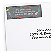 Stringing Up the Lights - 30 Personalized Holiday Return Address Labels