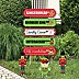 Christmas Street Sign Cutouts - Holiday & Christmas Yard Signs & Decorations - Set of 8