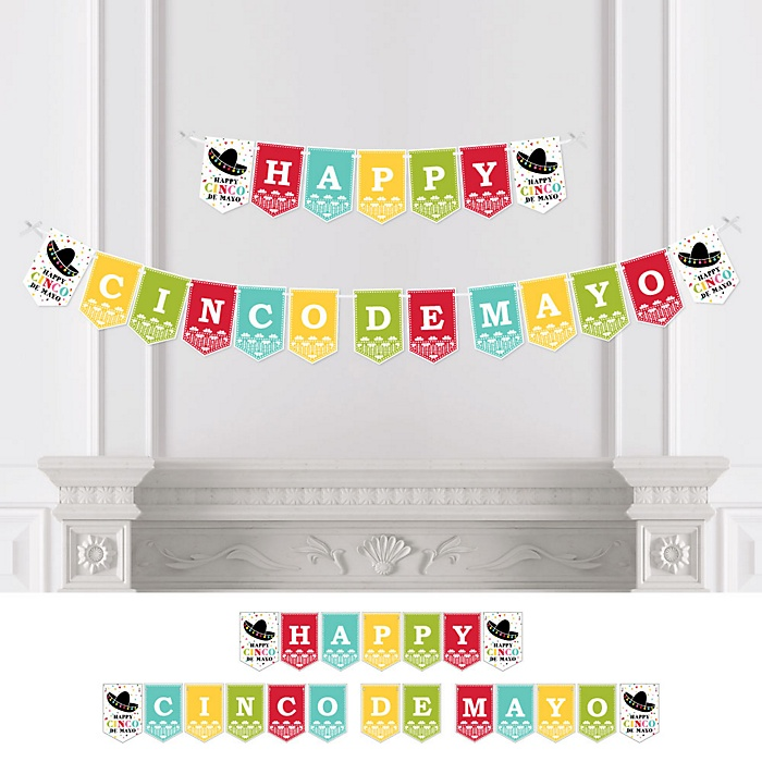 Cinco de Mayo - Mexican Fiesta Party Bunting Banner - Serape Sombrero Party Decorations - Happy Cinco De Mayo