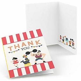 Carnival - Cirque du Soirée - Party Thank You Cards - 8 ct