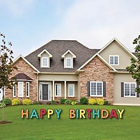 Colorful Happy Birthday - Yard Sign Outdoor Lawn Decorations - Birthday Yard Signs