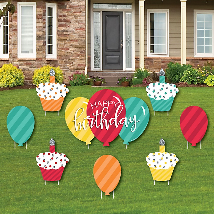 Colorful Happy Birthday Set Of Eight Yard Sign Lawn Decorationsqlt95resModesharp2op Usm1160wid700