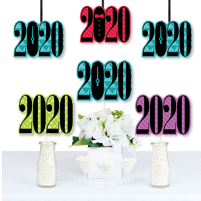Colorful New Years Eve - 2020 Decorations DIY New Years Eve Party Essentials - Set of 20