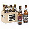 """Dad, I Must Confess - """"Here's To You Brew"""" - 6 Beer Bottle Labels and 1 Carrier Gifts for Dad"""