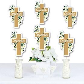 Confirmation Elegant Cross - Decorations DIY Religious Party Essentials - Set of 20
