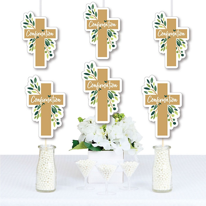 Confirmation Elegant Cross - Decorations DIY Religious Party Essentials - Set of 20