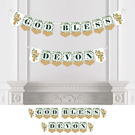Confirmation Elegant Cross - Personalized Religious Party Bunting Banner and Decorations