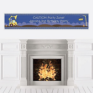 Construction Truck - Personalized Birthday Party Banners