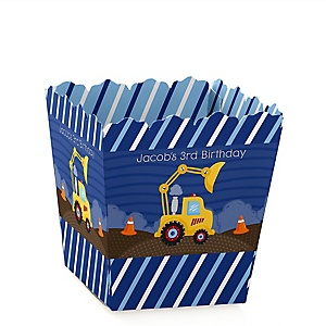 Construction Truck - Party Mini Favor Boxes - Personalized Birthday Party Treat Candy Boxes - Set of 12