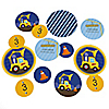 Construction Truck - Personalized Birthday Party Table Confetti - 27 ct