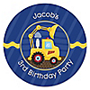 Construction Truck - Personalized Birthday Party Sticker Labels - 24 ct