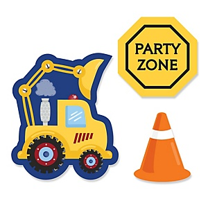 Construction Truck - Shaped Party Paper Cut-Outs - 24 ct