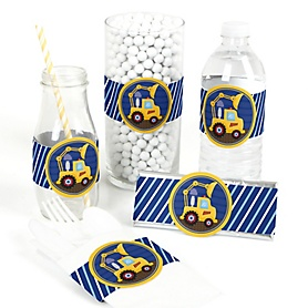 Construction Truck - DIY Party Wrappers - 15 ct