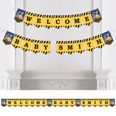 Construction Truck   Personalized Party Bunting Banner U0026 Decorations