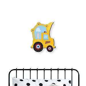Construction Truck - Baby Boy Nursery and Kids Room Home Decorations - Shaped Wall Art - 1 Piece