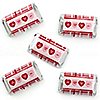 Conversation Hearts - Mini Candy Bar Wrapper Stickers - Valentine's Day Party Small Favors - 40 Count