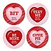 Valentine's Day Conversation Hearts - Assorted Valentine's Day Party Sticker Labels - 24 ct