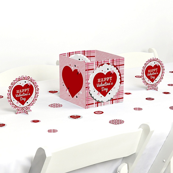 Conversation Hearts - Valentine's Day Party Centerpiece and Table Decoration Kit
