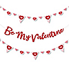 Conversation Hearts - Valentine's Day Party Letter Banner Decoration - 36 Banner Cutouts and Be My Valentine Banner Letters