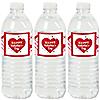 Valentine's Day Conversation Hearts - Valentine's Party Water Bottle Sticker Labels - Set of 20